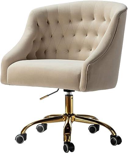Mid Century Modern Tufted Velvet Task Chair