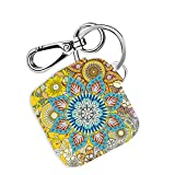 Logity Tile Mate & Tile Sport & Tile Style Case with Carabiner Keychain, Leather Skin Cover for Tile Bluetooth Tracker, Anti-Lost Design, Bohemian