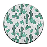 4-Feet Round Area Rugs, Super Soft Shag Cactus Carpet Round Carpet Area Rug For Living Room Bedroom Home Any Floor & Carpet