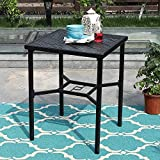 "PHI VILLA 28"" Metal Patio Height Bistro Table Set"