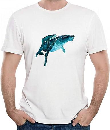 XinYuefushi - Camiseta para Hombre, diseño de Ballenas de Color Azul Oscuro - - 4X-Large: Amazon.es: Ropa y accesorios