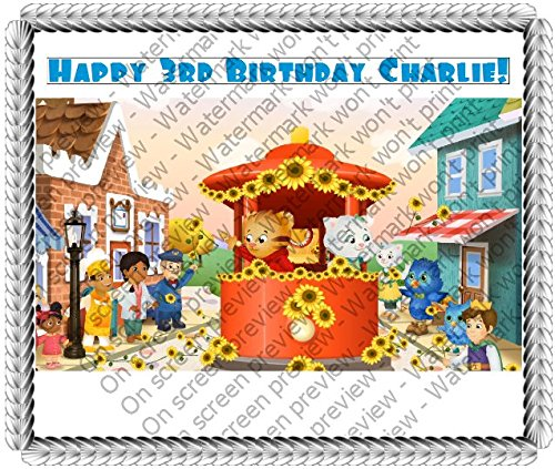 Daniel Tiger's Neighborhood Trolley and Friends Edible Image Cake Topper