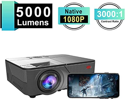 Portable Mini Projector,HD 1080P Laptop//TV Box//Phone//PS4 for Household Theater Entertainment Leisure 30000 Hrs LED Lamp Life
