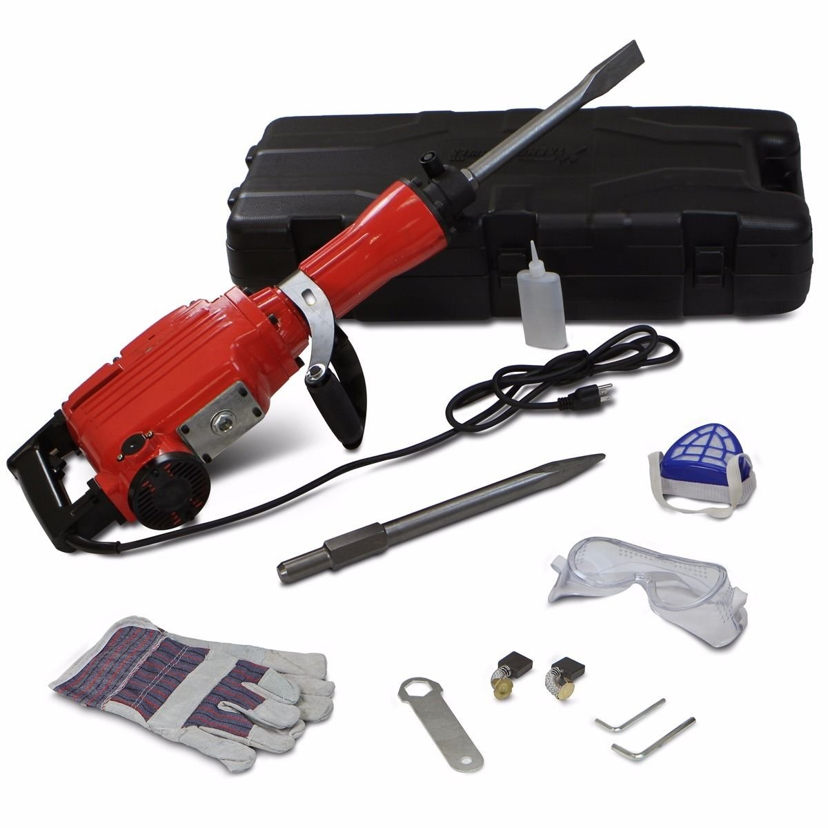 2200W 1900RPM Electric Demolition Jack Hammer Concrete Breaker Punch Chisels HD by Jikkolumlukka