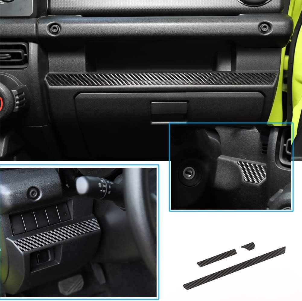 Hgcar Carbon Fiber Car Center Console Cover Trim,Dashboard Decorative Cover for Jeep Wrangler JL 2018-2019