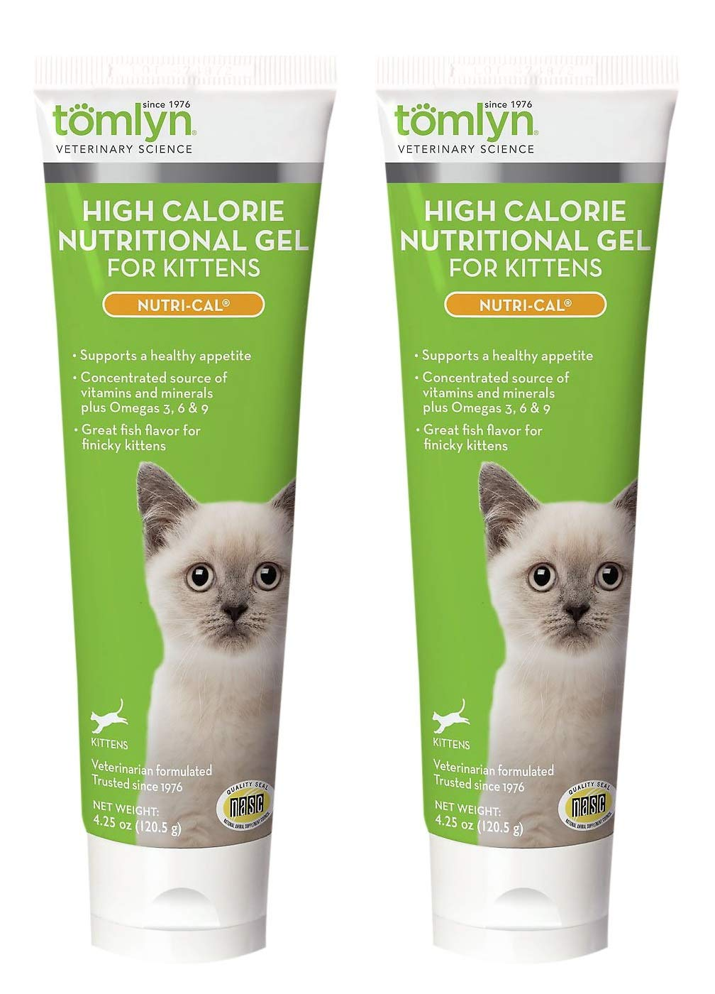 Tomlyn 2 Pack of High Calorie Nutritional Gel for Kittens, 4.25 Ounces each by Tom Lyn