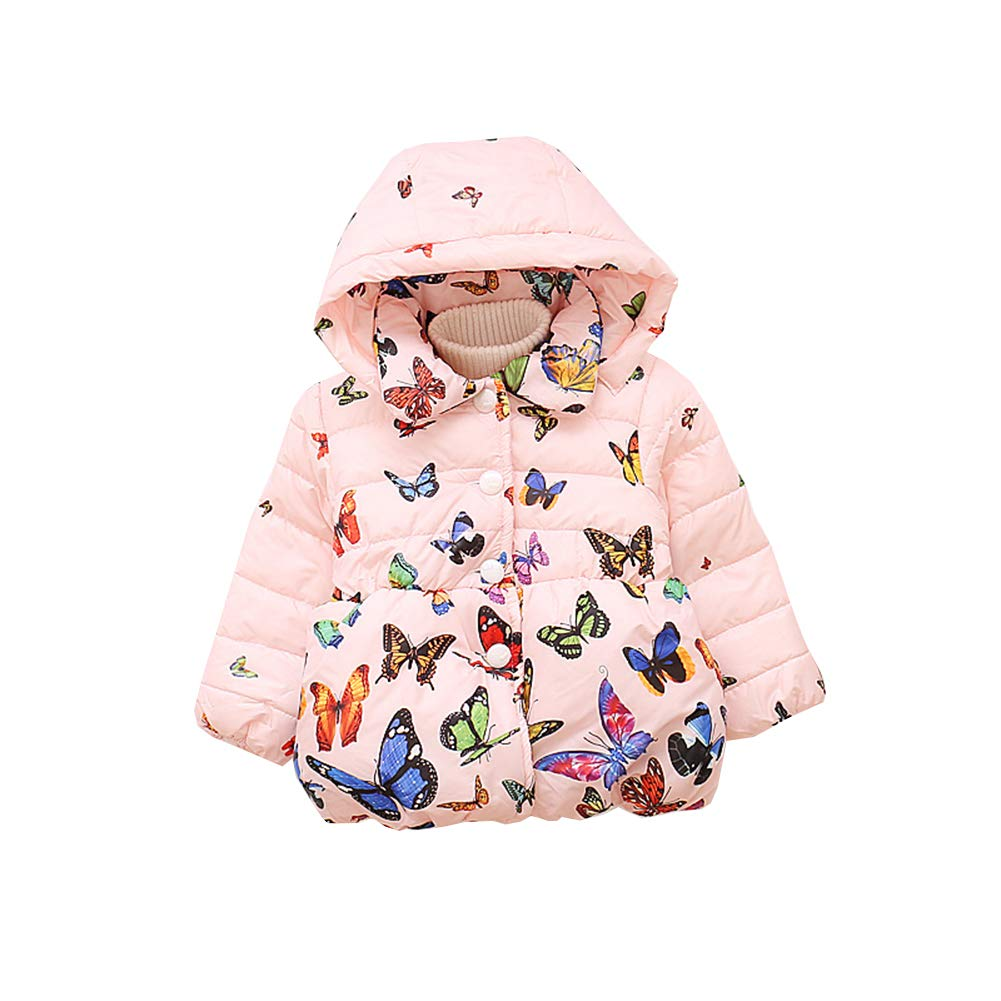 Fairy Baby Toddler Baby Girls Winter Thick Outwear Jacket Butterfly Hooded Snowsuit
