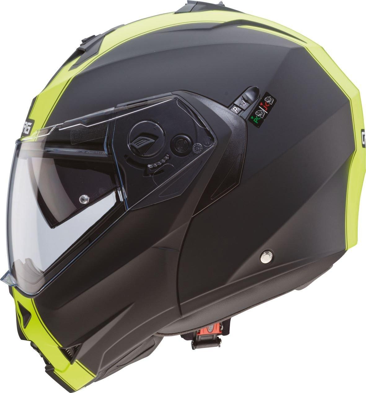 Casco Helmet Helm CABERG DUKE DOPPIA OMOLOGAZIONE apribile bianco white metal taglia M