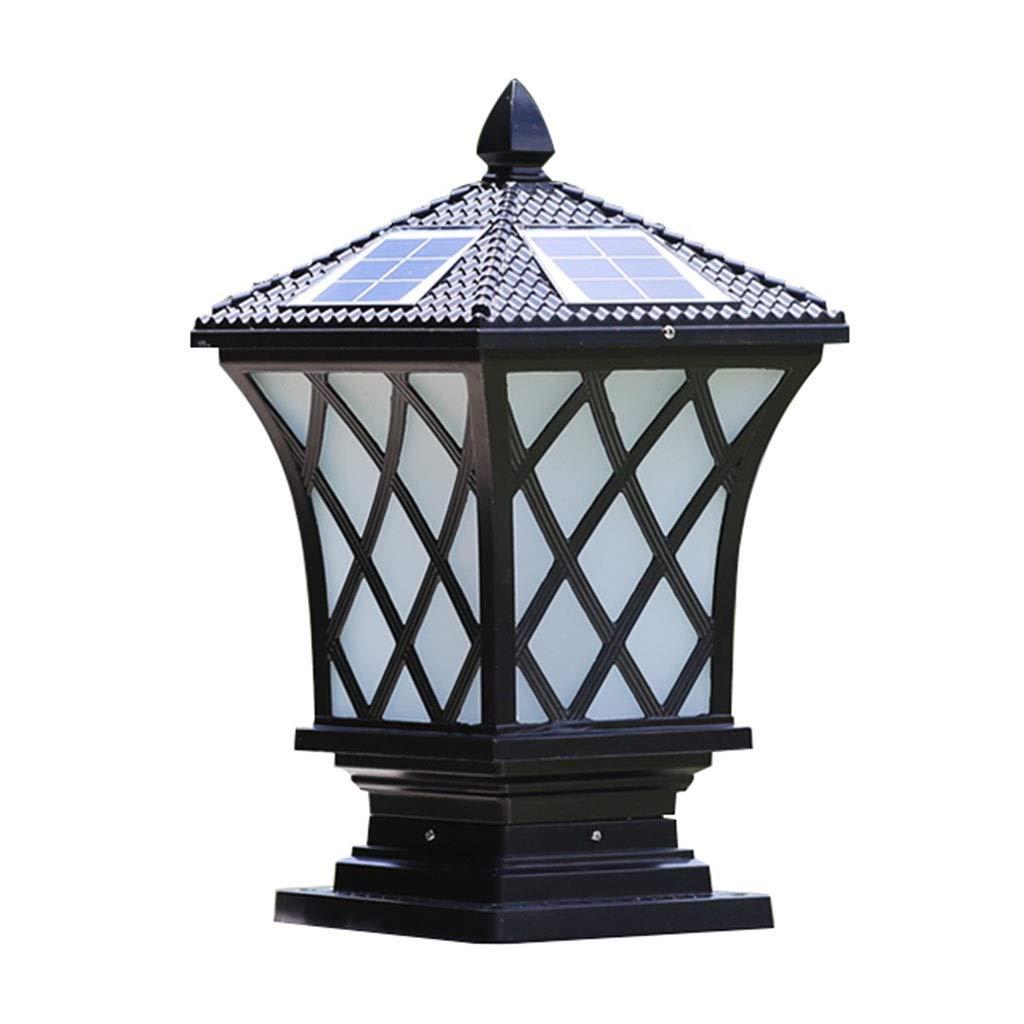 Illuminazione Luci solari Luce Luce della Parete Luce della Parete Luce della Parete Luce della Parete Luce di Legno Luce Esterne All'aperto Luce della Porta (Colore   nero, Dimensione   20  15  37cm)