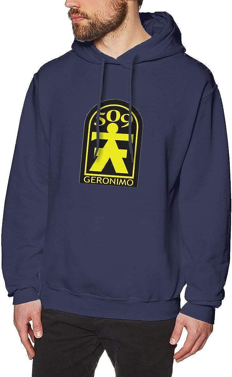 509th Geronimo Airborne Mens Hooded Sweatshirt Theme Printed Fashion Hoodie