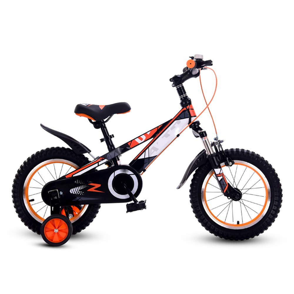 orange 12 inch HAIZHEN stroller Kids' Bikes Boy's Bicycle Cycling Bike for Boys and Girls, 12 Inch, 16 Inch, 95% assembled, Gift for kids for newborn (color   bluee, Size   12 inch)