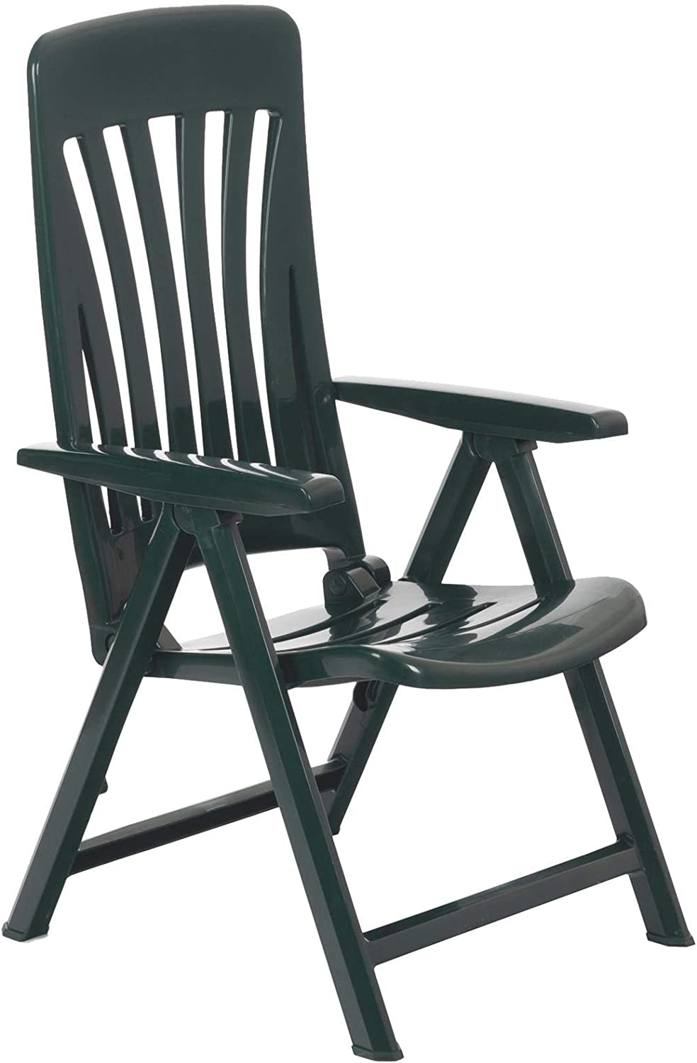 Resol Blanes Folding and Reclining Garden Chairs Set of 11, Green