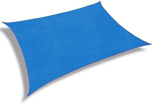 Patio Paradise 17' x 21' Blue Sun Shade Sail Rectangular Canopy UV Block UV Resistant Heavy Duty Commercial Grade Outdoor Carport Custom