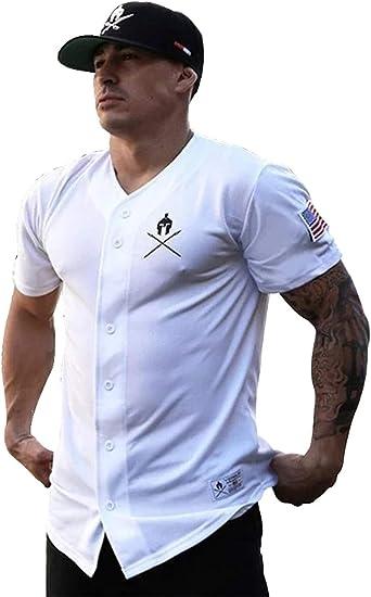 Camiseta Manga Corta Baseball Hombre Fitness. Camisa algodón ...