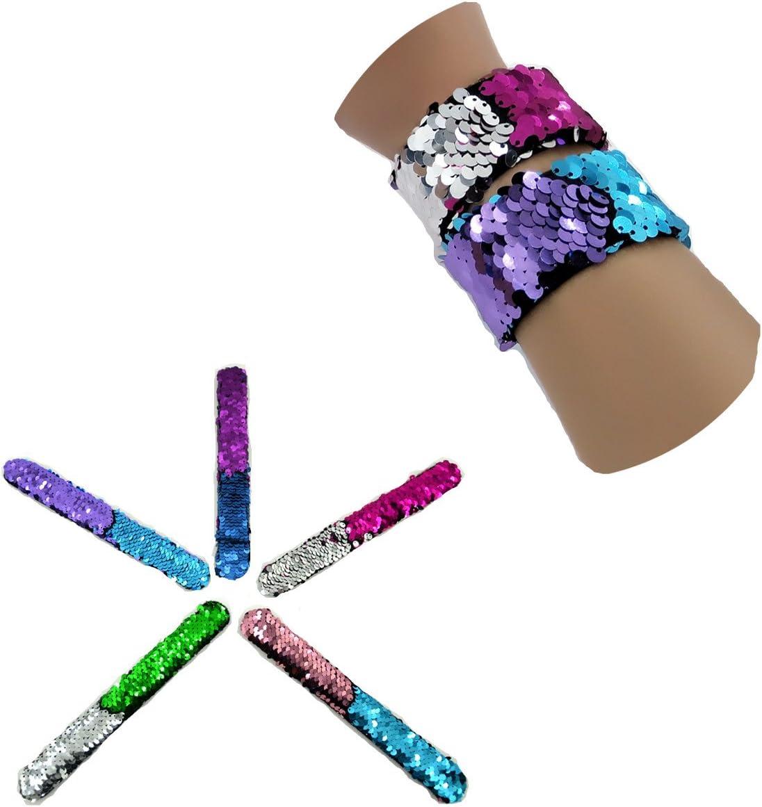 JACHAM Mermaid Bracelet Party Supplies for Birthday 24pack Emoji Keychain