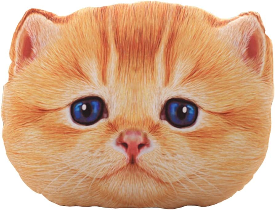 LivebyCare 19inch 3D Cat Dog Stuffing Throw Pillow Stuffed Plush Toy Play Doll Filled Home Decoration Filling Cushion for Children Kid Boy Girls Boy Birthday Gift Festival Christmas