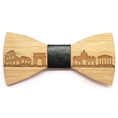 prezzo interessante sito affidabile metà prezzo BOBIJOO Jewelry - Uomo di legno di bambù Papillon Roma Italia a mano in  pelle