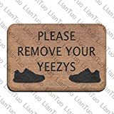 LianTuo Please Remove Your YEEZYS Vintage 15.7 X 23.6 in Absorbent Anti Slip Floor Rug Shoe Rug