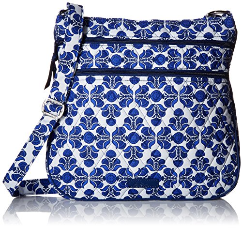 Vera Bradley Women's Triple Zip Hipster Cobalt Tile Cross Body