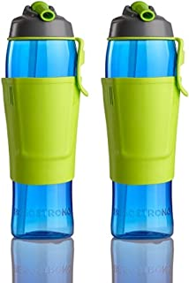 product image for 50 Strong Tritan BPA Free Water Bottle 30oz with Credit Card & Cash Storage Pocket Made in USA (2-Pack)