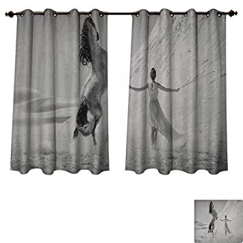Amazon.com: Black and White Bedroom Thermal Blackout ...