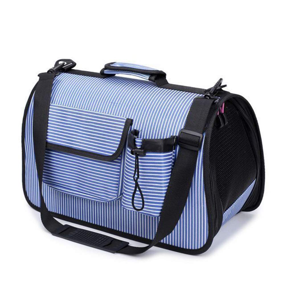 bluee SmallPet Travel Bag Outdoor Travel Pet Carrier Backpack Picnic Single Shoulder Bag Carrier Hiking Mesh Comfortable Breathable Portable Handbag