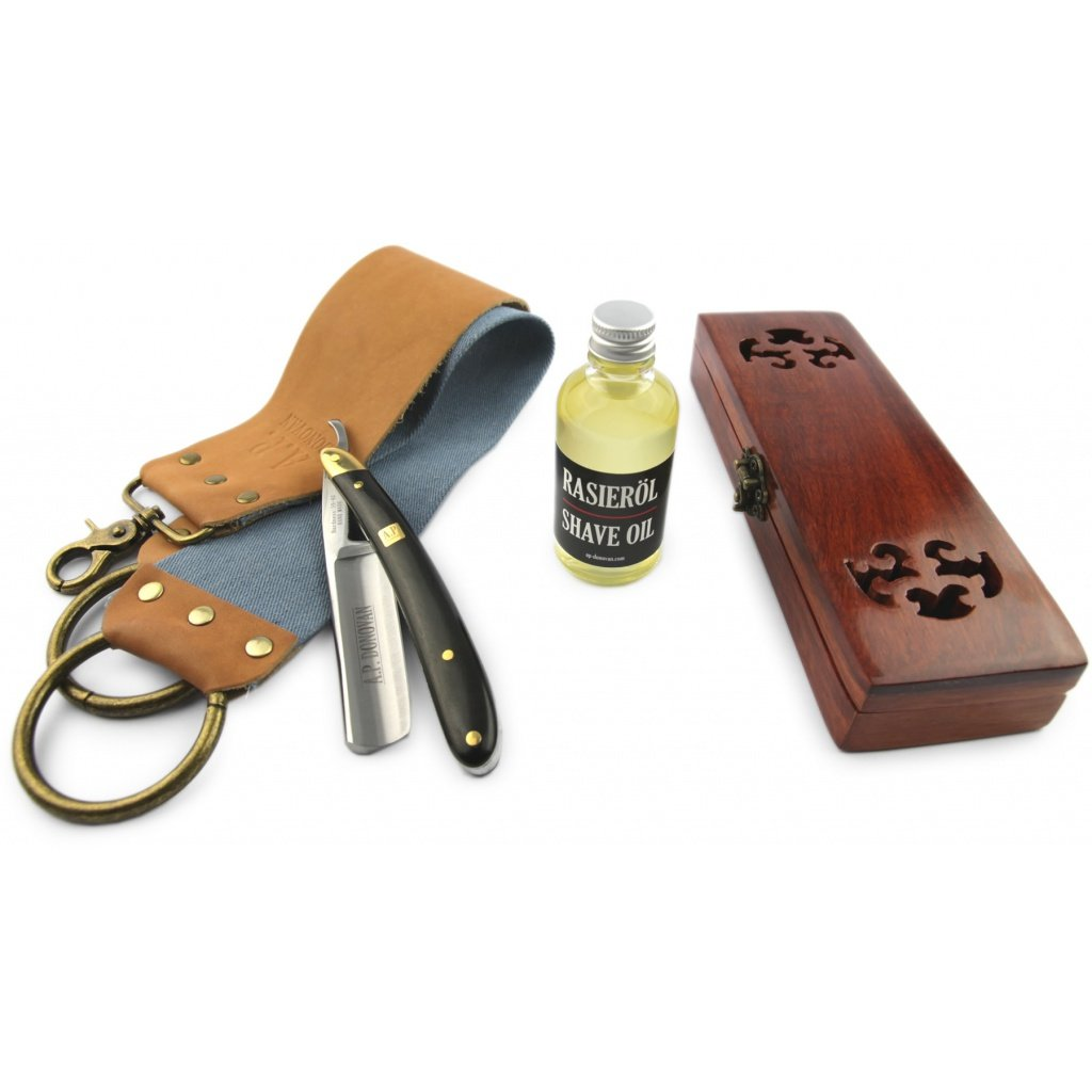 A.P. Donovan - Professional Razor 7/8 - Sandals handle - shaving oil and strop