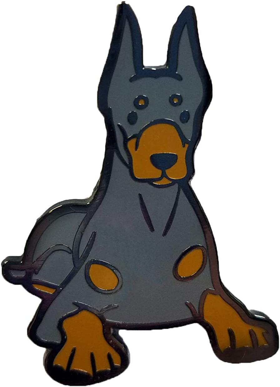 Doberman Lapel Pin Badge