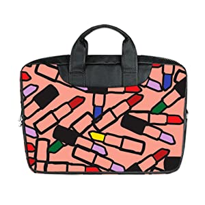 INSTALL AND EASY TO CARRY Wear& Slim &Dapper Lipstick Pattern Custom Waterproof Nylon Bag for Laptop 17 Inches(Twin sides)