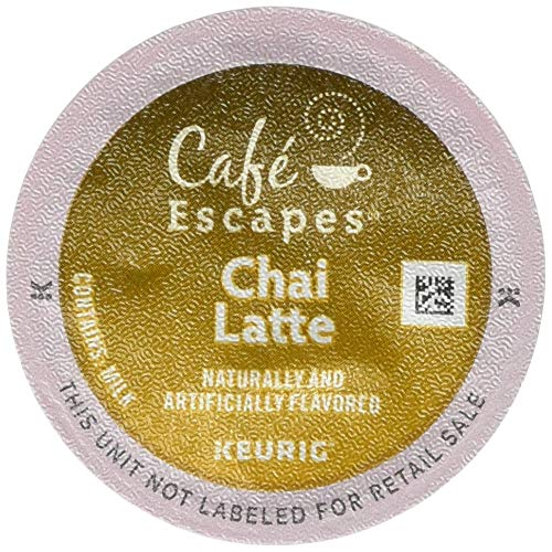 Café Escapes Keurig Single-Serve K-Cup Pods, Chai Latte, 24 Count (packaging may vary) (Classic Chai Latte)