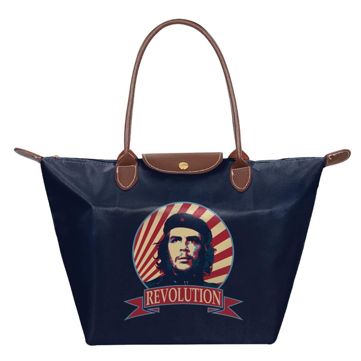 Che Guevara Revolution Waterproof Leather Folded Messenger Nylon Bag Travel Tote Hopping Folding School Handbags