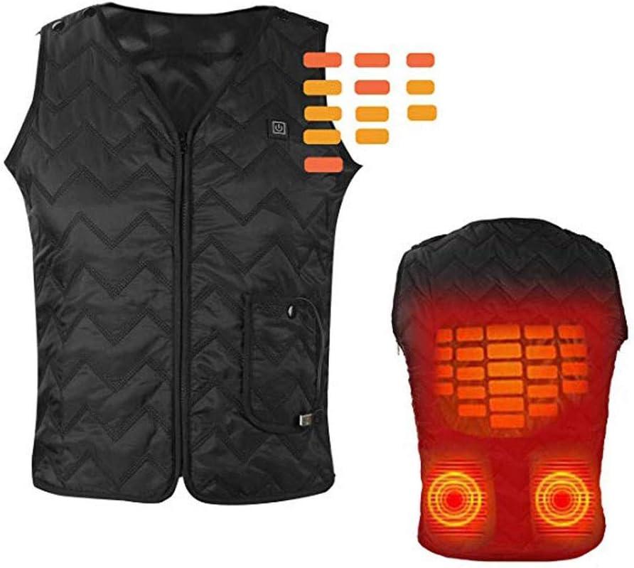 Fannyfuny-Homme Shirt Veste Chauffante avec Batterie Softshell Chauffante pour Les Activit/és en Hiver Manteau Chauffant Vestes pour Hommes pour Les Sports De Plein Air Ski Equitation P/êche Camping