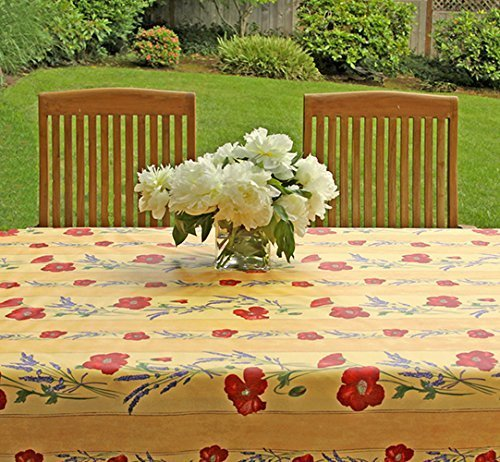 large-oval-or-rectangle-96-or-110-inches-tablecloth-provence-poppies-and-lavender-in-gold-please-cho