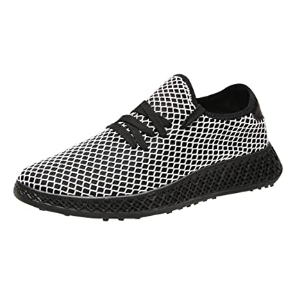 d4635d2241efd Amazon.com : JJLIKER Sports Sneakers for Men Mesh Breathable Comfort ...