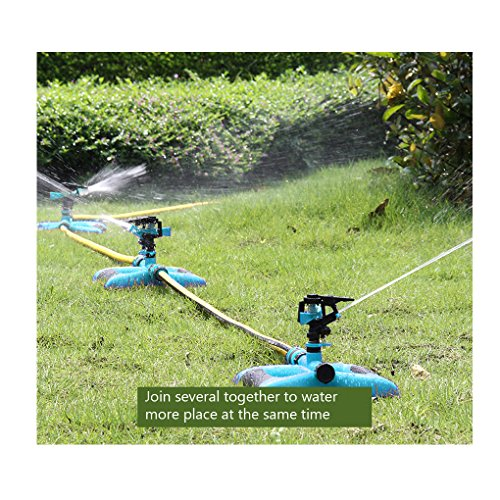 Lawn Sprinkler System, Impact Sprinkler, Water Sprinklers Head for Lawns Irrigation, Garden Hose Sprinklers, Outdoor Automatic Adjustable 360° Rotating Oscillating Sprinkler for Grass Kids (Blue)