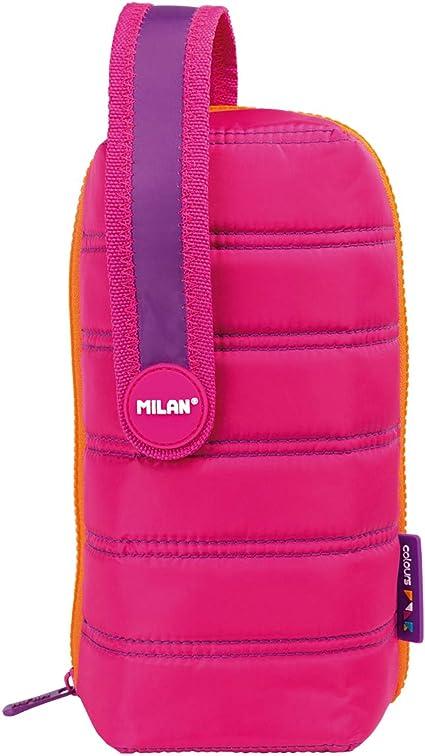 Estuche milan kit 4 estuches con contenido colours rosa: Amazon.es: Oficina y papelería