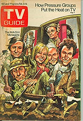 1974 TV Guide Feb 9 Cast of MASH (Cover by Jack Davis) - Kentucky Edition Very Good (3 out of 10) Well Used by Mickeys Pubs