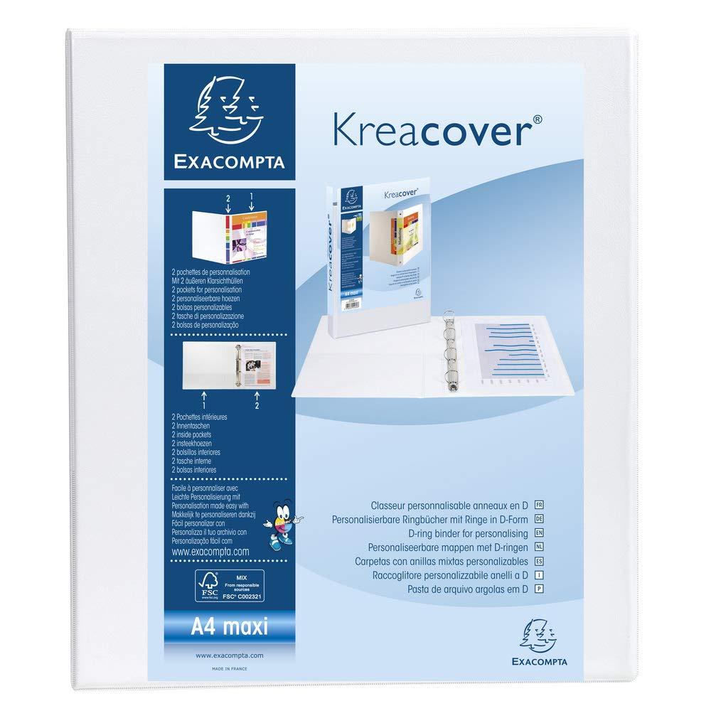 Exacompta 389458 - Carpeta personalizable A4, lomo 4 - 40 mm ...