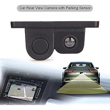 Cámara de visión trasera Erisin ES566R, para coche, con sensor de aparcamiento de 120 grados, sistema asistente 2 en 1, radar inverso: Amazon.es: Coche y ...