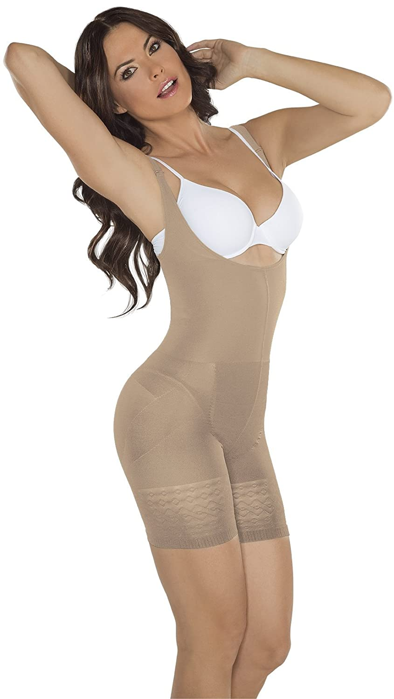 ae43dd696cb84 ShapEager Faja Colombiana Reductora Body Shaper Thermal Braless Short  Shapewear Black at Amazon Women s Clothing store