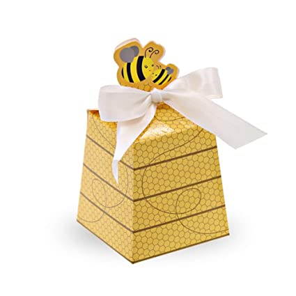 Amazon Com Sumdirect 50pcs Paper Beehive Gift Box With Ribbons Baby