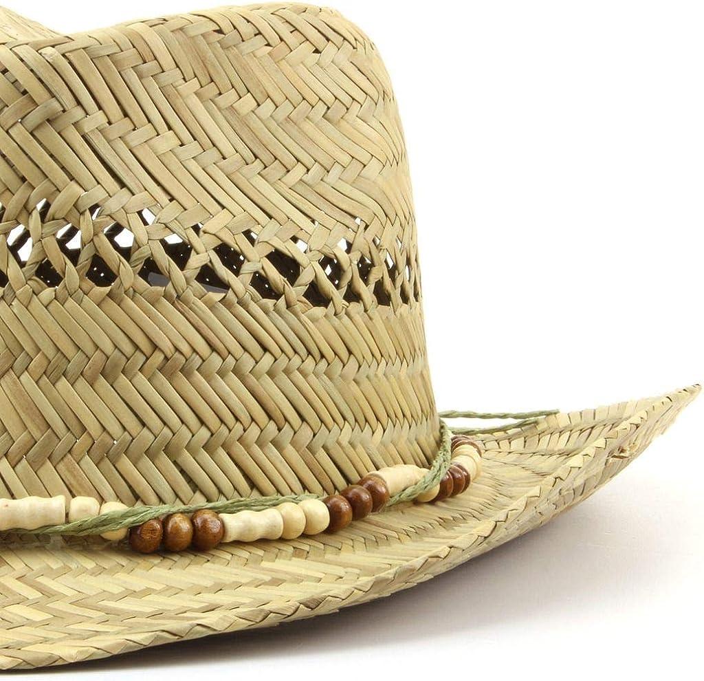 Hawkins Straw Cowboy Hat with Wood Bead Band