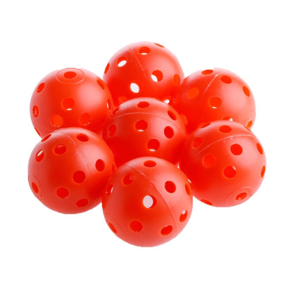 mimgo Store 50個ゴルフ練習中空通気プラスチックスポーツトレーニングボール40 mm  レッド B01J504SQM