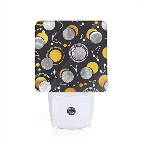 Led Night Light Great Total Solar Eclipse Black Background Grey ...