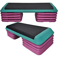 Aerobic Step - 110cm*40cm Cardio Exercise Stepper - 8 x Riser Block + 1 Green Stepper - $$$