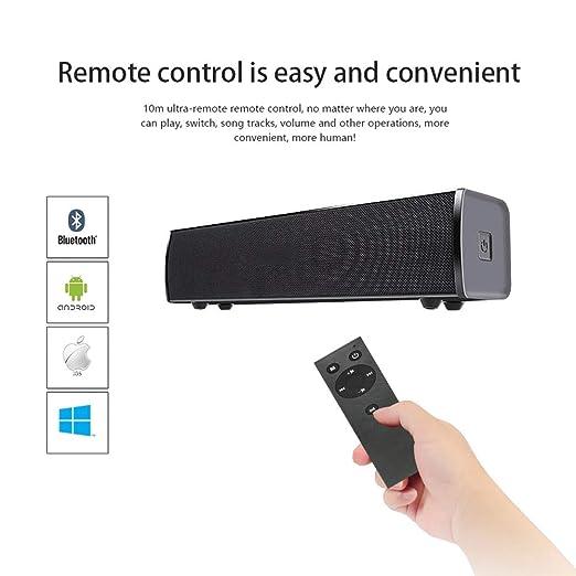 Altavoz Bluetooth Barra de Sonido, Altavoz estéreo de Cine en casa ...
