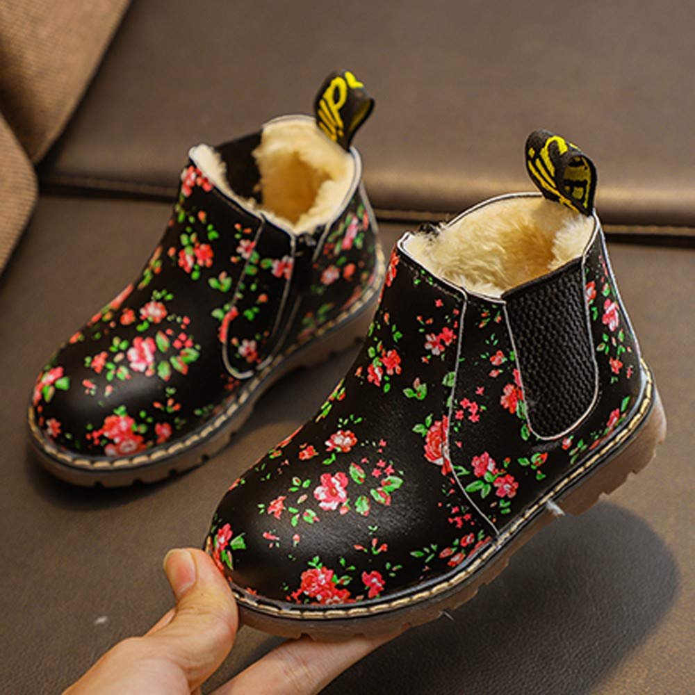 GorNorriss Baby Shoes Children Fashion Martin Sneaker Winter Thick Snow Casual Shoes