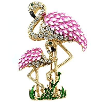 88d322e2a Buy Soulbreezecollection Adorable Baby Mom Pink Flamingo Pin Brooch ...