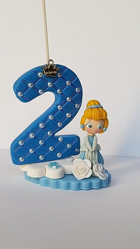 Vela decorada porcelana fría Inspirada en Princesas ...
