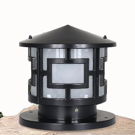 Superieur DGF European Outdoor Waterproof Villa Patio Pillar Lights L30cm H28cm (  Color : Black , Size